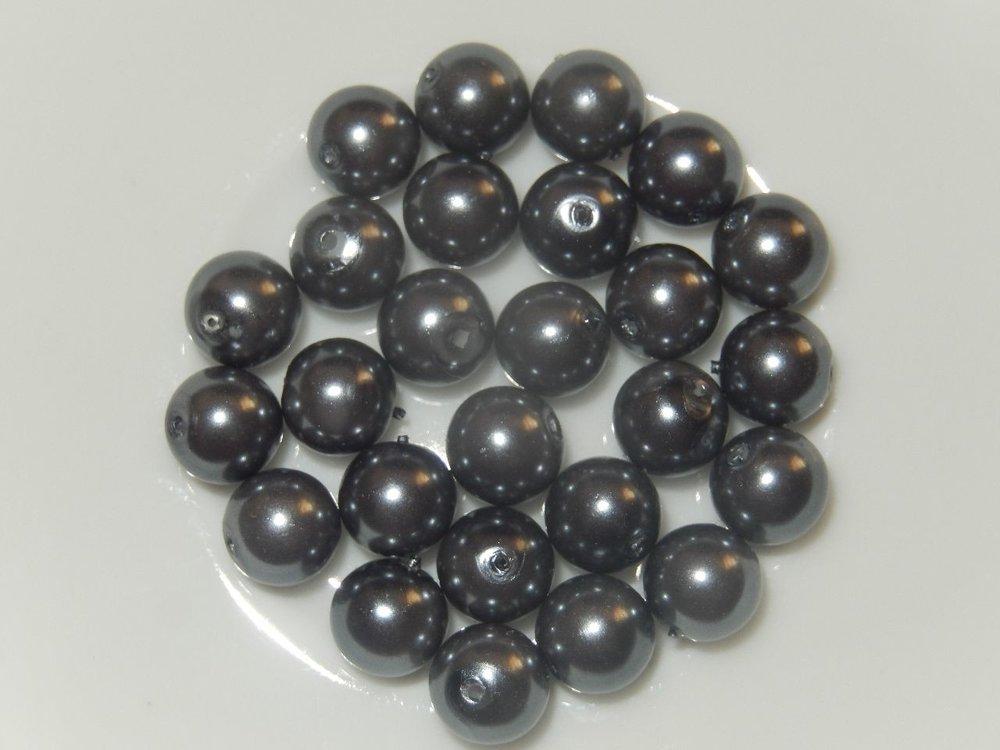 P1315 Glasparel rond grijs 7 mm