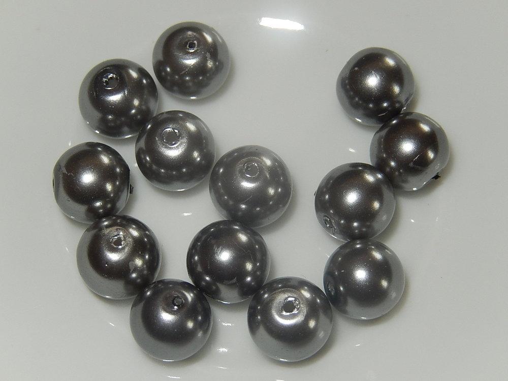 P1410 Glasparel kwartsgrijs rond 8 mm