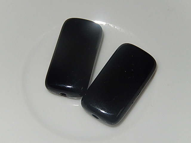 B0104 Glaskraal zwart rechthoek 24x13x6 mm