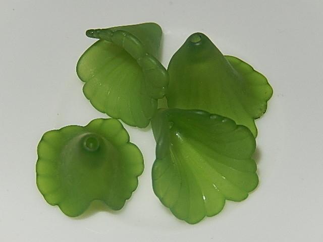 A9217 Kunststof Bloemkelk groen 20x20 mat