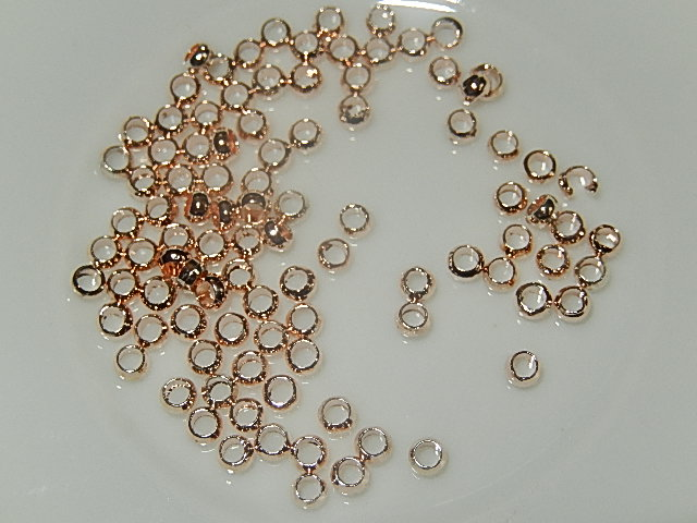 KKM601R020Q 100 st DQ knijpkralen antiek roze goud 2 mm