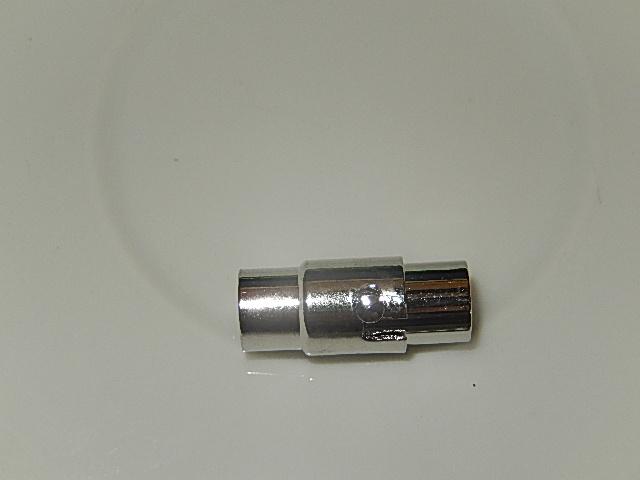MSM001R050Q DQ Magneetslot 1 st antiek zilver 16x8 mm – binnenmaat 5 mm
