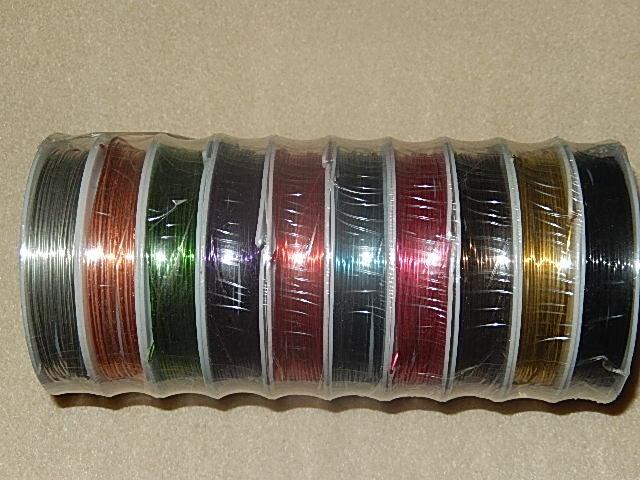 D7101 Koperdraad 10 kleuren 0,8 mm / 20 gauge 4 m per rol