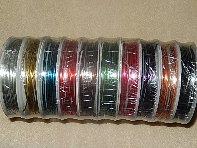 D7102 Koperdraad 10 kleuren 1 mm / 18 gauge 2,5 m per rol