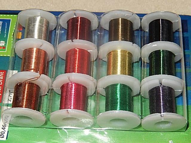 D7104 Koperdraad 12 kleuren 0,46 mm / 25 gauge 2,7 m per rol