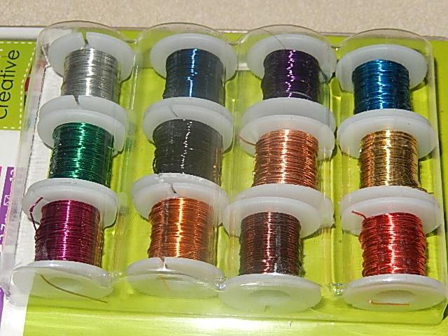 D7103 Koperdraad 12 kleuren 0,46 / 25 gauge mm 2,7 m per rol