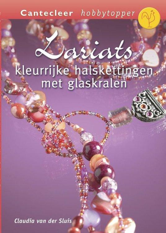 Z0021 Lariats kleurrijke halskettingen met glaskralen van Claudia van der Sluis