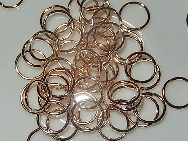 BRM603R100Q DQ buigringen 50 st roze goud rond 10 mm