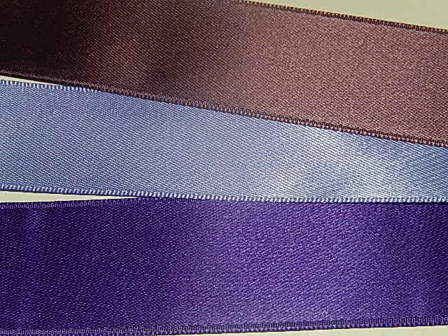 LS2500 Satijnband deluxe double face 25 mm breed meerdere kleuren