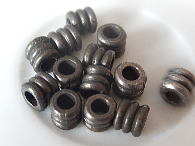 M0215 Tibetaans zilveren kraal 1 st cilinder 6x6 mm