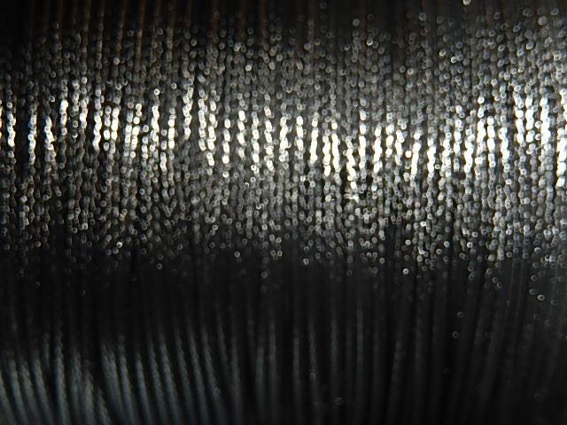 DRW001X010 Waxkoord 1 m gewaxed polyester koord 1 mm dik zwart