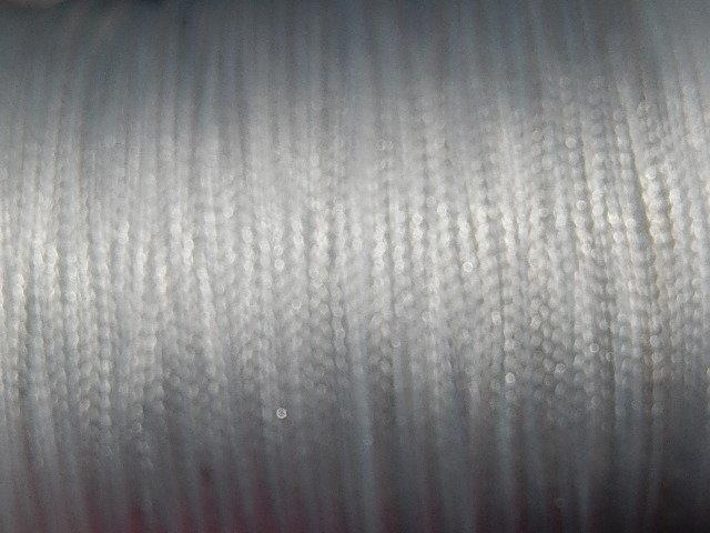 DRW101X010 Waxkoord 1 m gewaxed polyester koord 1 mm dik wit