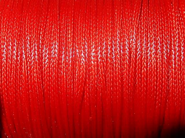 DRW203X010 Waxkoord 1 m gewaxed polyester koord 1 mm dik karmozijn
