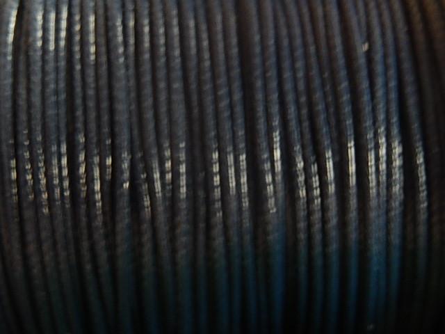 DRW402X010 Waxkoord 1 m gewaxed polyester koord 1 mm Pruisisch blauw