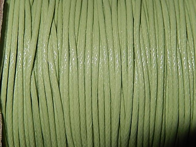 DRW501X010 Waxkoord 1 m gewaxed polyester koord 1 mm zachtgroen