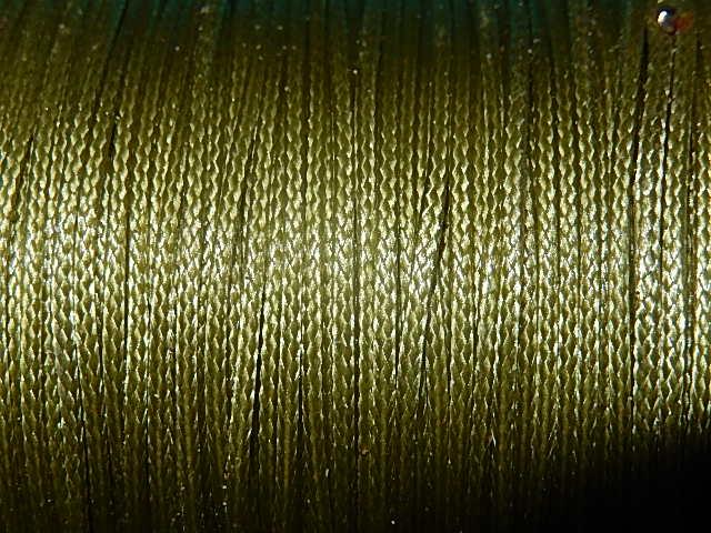DRW503X010 Waxkoord 1 m gewaxed polyester koord 1 mm donkerkhaki