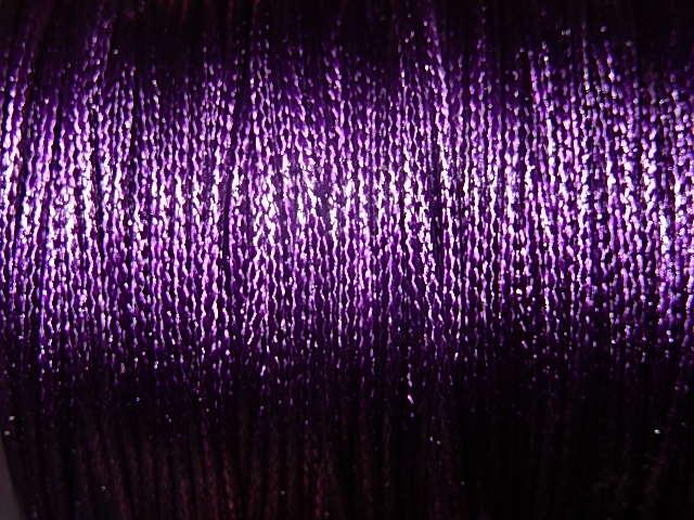 DRW604X010 Waxkoord 1 m gewaxed polyester koord 1 mm purple