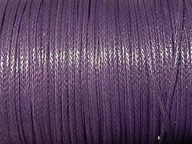 DRW605X010 Waxkoord 1 m gewaxed polyester koord 1 mm grijspaars