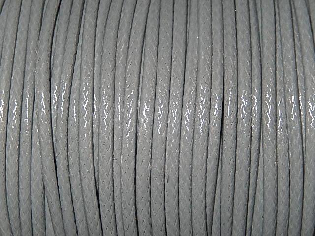 DRW004X020 Waxkoord 1 m gewaxed polyester koord 2 mm dik grijs