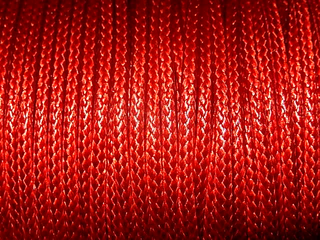 DRW204X020 Waxkoord 1 m gewaxed polyester koord 2 mm dik vuurrood