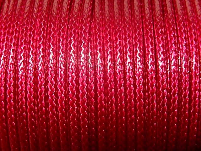 DRW608X020 Waxkoord 1 m gewaxed polyester koord 2 mm dik cyclaam