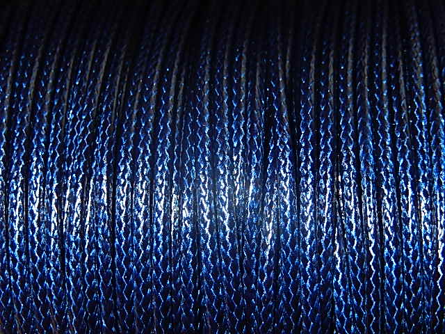 DRW405X020 Waxkoord 1 m gewaxed polyester koord 2 mm dik middernachtsblauw