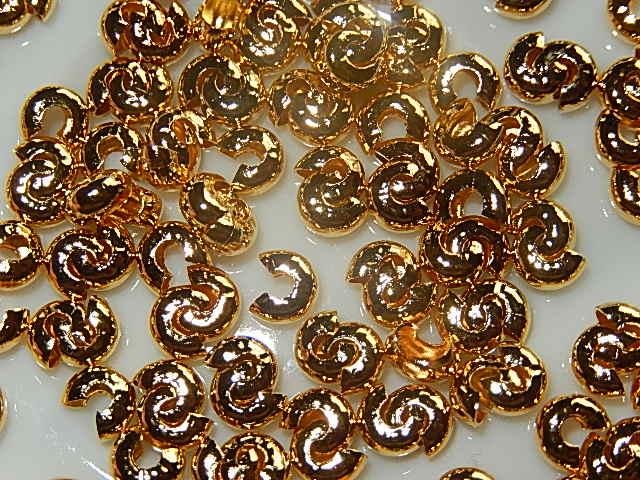 KVM302R040 20 st knijpkraalverberger goud 4 mm