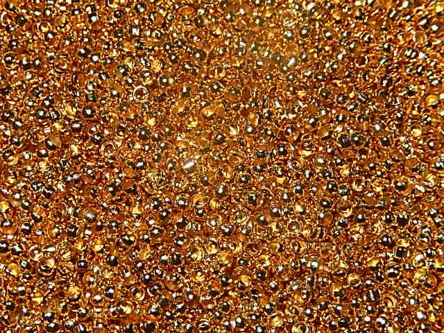 KKM302R020 100 st Knijpkralen goud 2 mm