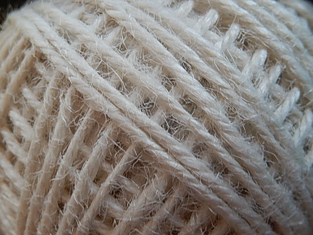 DRJ002 Natuurlijk sisal koord 1 meter lang wit 2 mm
