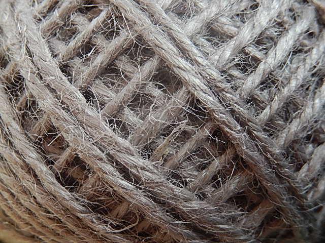 DRJ003 Natuurlijk sisal koord 1 meter lang grijs 2 mm