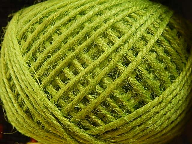 DRJ006 Natuurlijk sisal koord 1 meter lang appel groen 2 mm