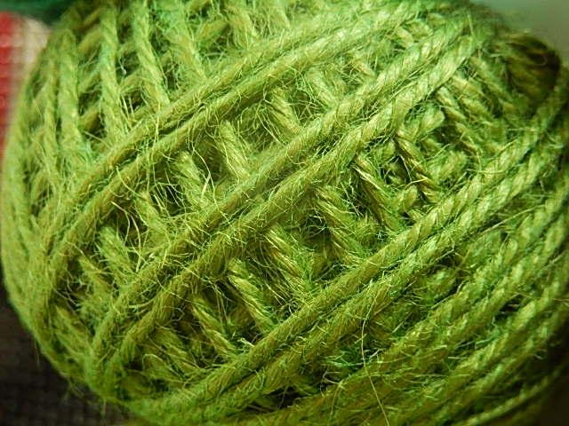 DRJ007 Natuurlijk sisal koord 1 meter lang mosgroen 2 mm