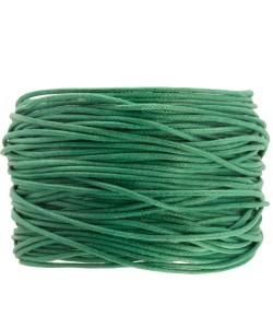 DRW512X010 Waxkoord 1 m lang 1 mm dik beryl green