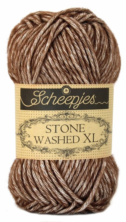 Scheepjeswol Stone Washed XL - 862 Brown agate