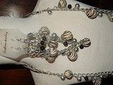 KTO101X96 Sieradenset zilverkleurige ketting met zebraprint op de houten kralen_