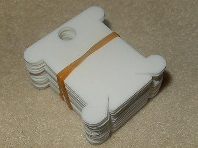 Plastic kaartjes voor DMC-garen 25 st