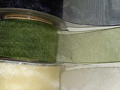 LO3800 Organza lint 38 mm breed meerdere kleuren