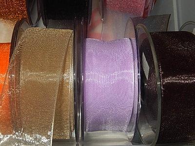 LO3500 Organza lint 35 mm breed meerdere kleuren