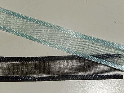 LO1010 Organza lint 10 mm breed met satijnrand meerdere kleuren