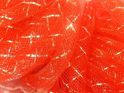 DN1202 Mesh tubing vanaf 20 cm gaaskoord 8 mm met zilverdraad rood