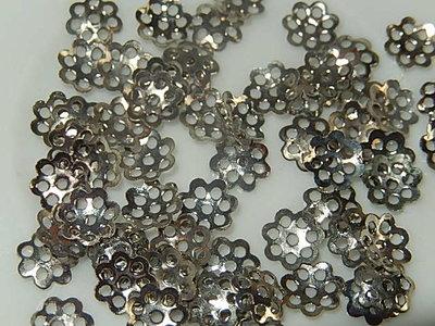 KK00120 Filigraan zilveren kralenkapje 1 st 1x6 mm