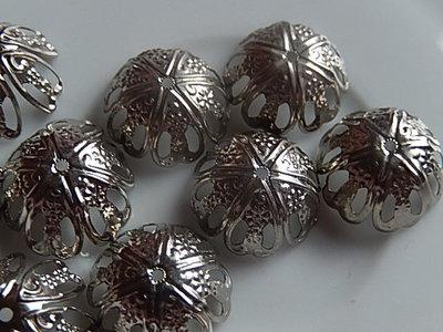 KK00101 Filigraan zilveren kralenkapje 1 st 7x16 mm