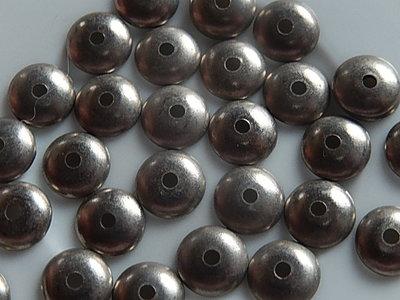 KK00114 Zilveren kralenkapje 1 st 2x8 mm