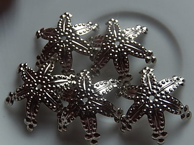 KK00123 Filigraan zilveren kralenkapje 1 st 7x25 mm