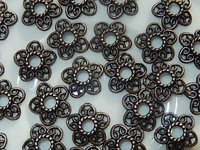 KK20123 Tibetaans koperkleurig kralenkapje 1 st 3x12 mm