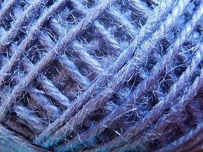 DRJ016 Natuurlijk sisal koord 1 meter lang blauw 2 mm