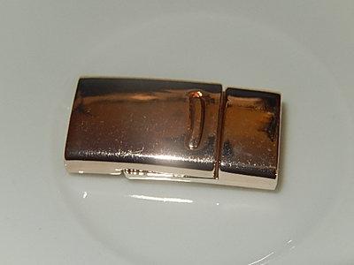 MSM603P100Q DQ Koko Magneetslot 1 st roze goud 27x13 mm – binnenmaat 10x2 mm