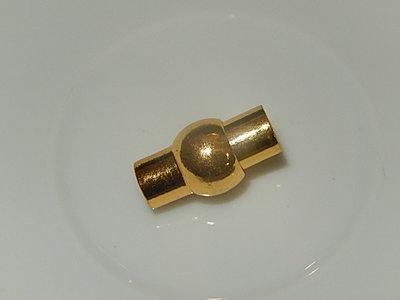 MSM301R050 Roestvrijstaal 1 st goud magneetslot 19x11 mm – binnenmaat 5 mm