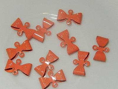 HAM801X08 Metalen strikjes 10 st 8x12 mm oranje