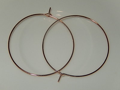 OSM202R35 Creool oorhaakjes 5 paar roze goud rond 35 mm